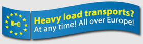 Heavy load transports? At any time! All over Europe!