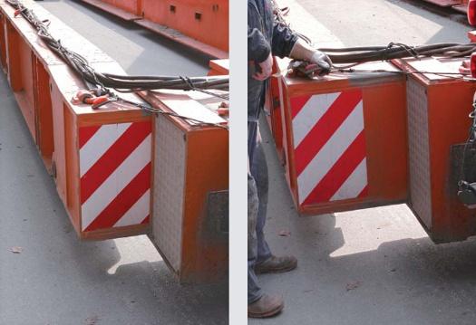 Schwertransport - hydraulische Verbreiterung