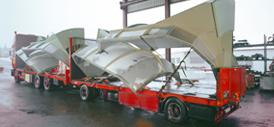 Schwertransporte - Motorwagen-Hänger-Zug, offen