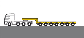 Schwertransporte - Semitieflader, offen